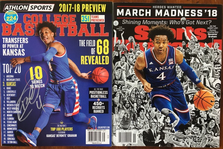 devonte graham signed magazines